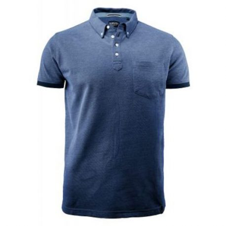 Larkford Polo donkerblauw mêlée