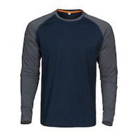 MacOne Alex T-shirt marine-grijs mêlée