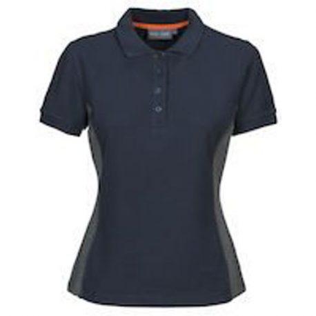 MacOne Selma Lady polo shirt marine-grijs mêlée