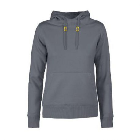 Printer Fastpitch Lady hooded sweater staalgrijs