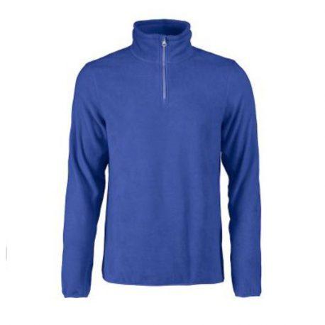 Printer Frontflip Fleece Halfzip blauw