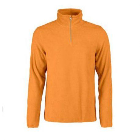 Printer Frontflip Fleece Halfzip oranje