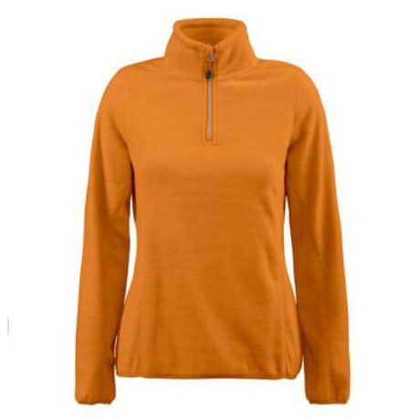Printer Frontflip Lady Fleece Halfzip Orange