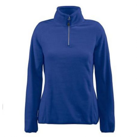 Printer Frontflip Lady Fleece Halfzip blauw