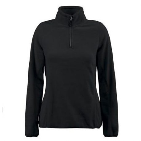 Printer Frontflip Lady Fleece Halfzip zwart