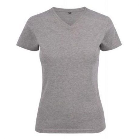 Printer Heavy V Lady t-shirt Lichtgrijs