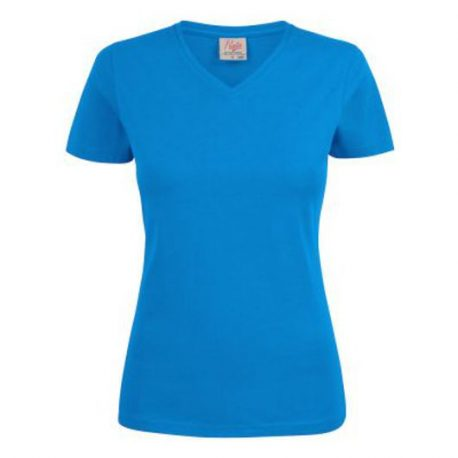 Printer Heavy V Lady t-shirt Oceaan Blauw