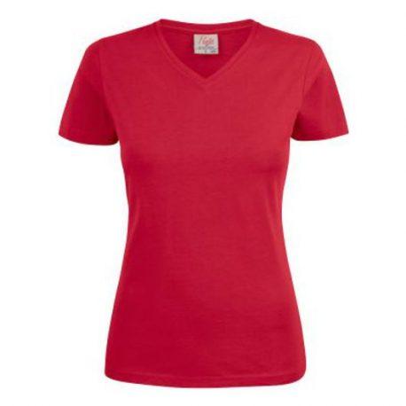 Printer Heavy V Lady t-shirt Rood