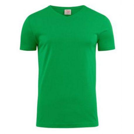 Printer Heavy V t-shirt Frisgroen