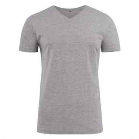 Printer Heavy V t-shirt Lichtgrijs