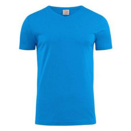 Printer Heavy V t-shirt Oceaan Blauw