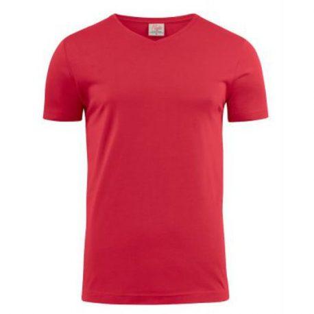 Printer Heavy V t-shirt Rood