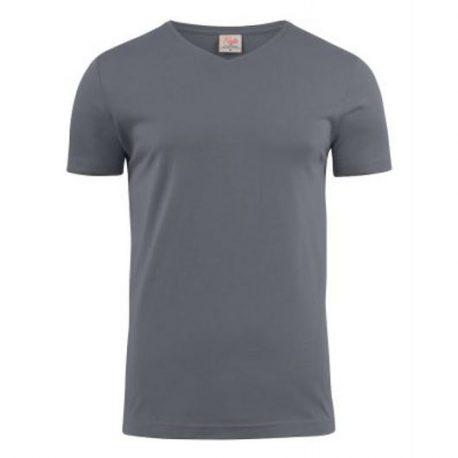 Printer Heavy V t-shirt Staalgrijs