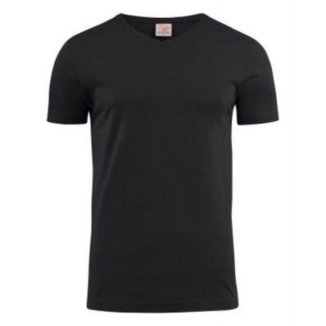 Printer Heavy V t-shirt Zwart