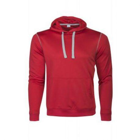 Printer Pentathlon hooded Sweater rood