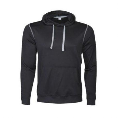 Printer Pentathlon hooded Sweater zwart