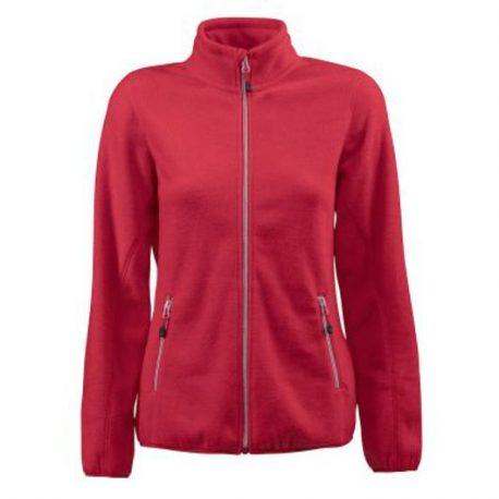 Printer Rocket Lady Fleece Jacket rood