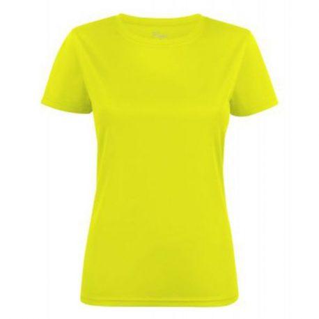 Printer Run Active Lady t-shirt geel