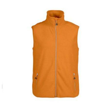 Printer Sideflip Fleece Vest oranje
