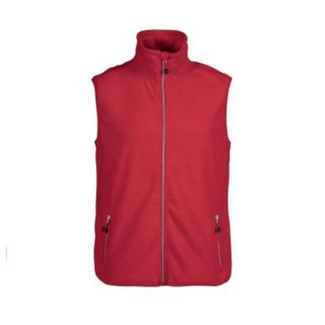 Printer Sideflip Fleece Vest rood