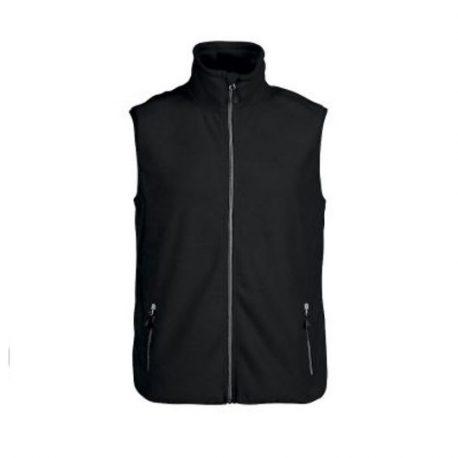 Printer Sideflip Fleece Vest zwart