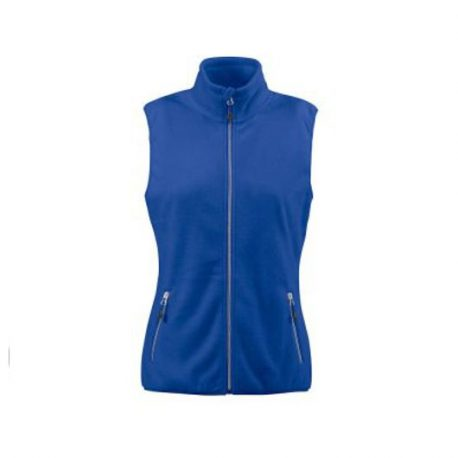 Printer Sideflip Lady Fleece Vest blauw