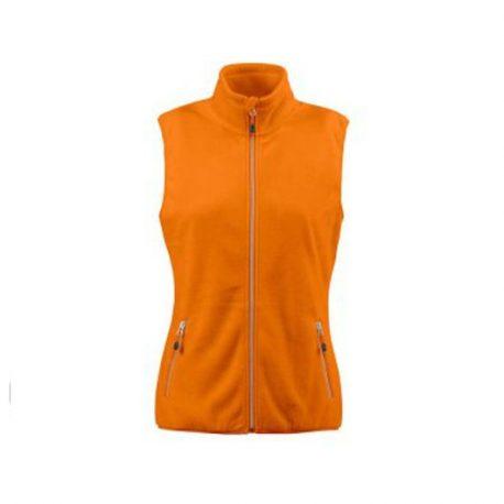Printer Sideflip Lady Fleece Vest oranje