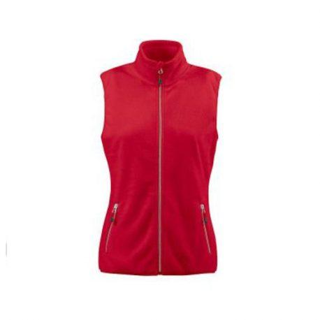 Printer Sideflip Lady Fleece Vest rood