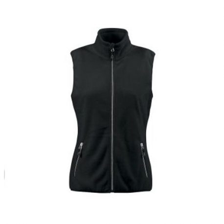 Printer Sideflip Lady Fleece Vest zwart