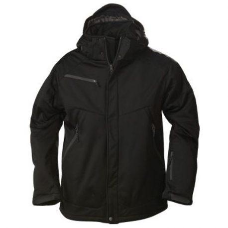 Printer Skeleton Softshell Jacket zwart