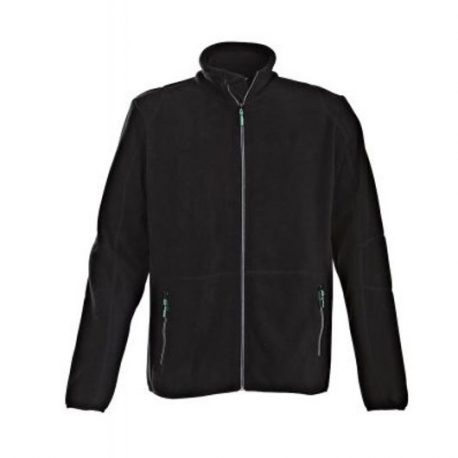 Printer Speedway fleece jacket zwart