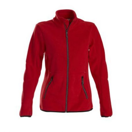 Printer Speedway lady fleece jacket rood