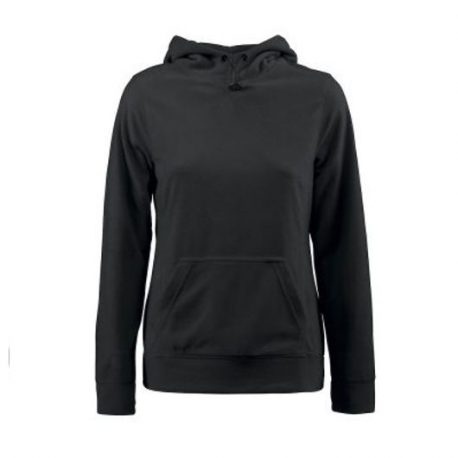 Printer Switch Lady Fleece Hoodie zwart