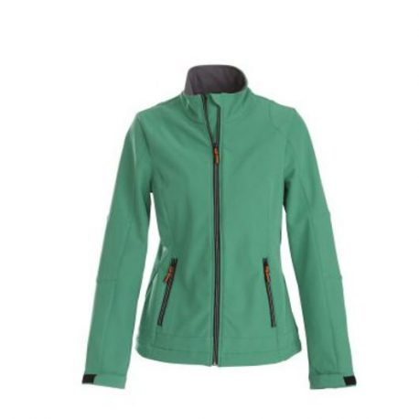 Printer Trial Lady Softshell Jacket frisgroen