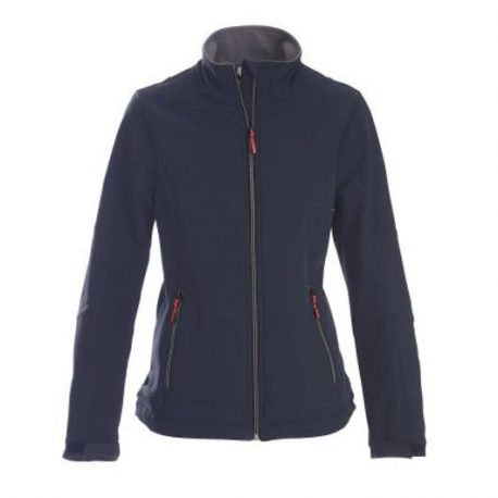 Printer Trial Lady Softshell Jacket marine