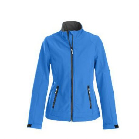 Printer Trial Lady Softshell Jacket oceaanblauw