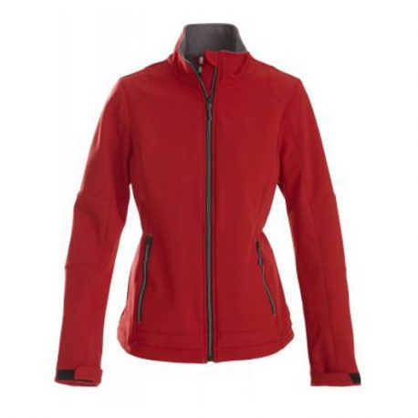 Printer Trial Lady Softshell Jacket rood