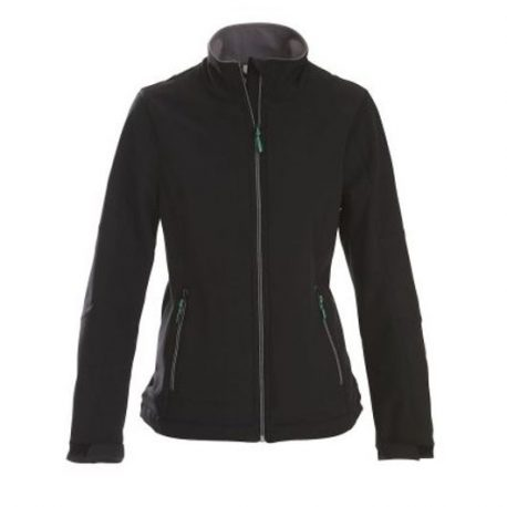 Printer Trial Lady Softshell Jacket zwart