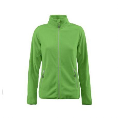 Printer Twohand Lady Fleece Jacket limoen