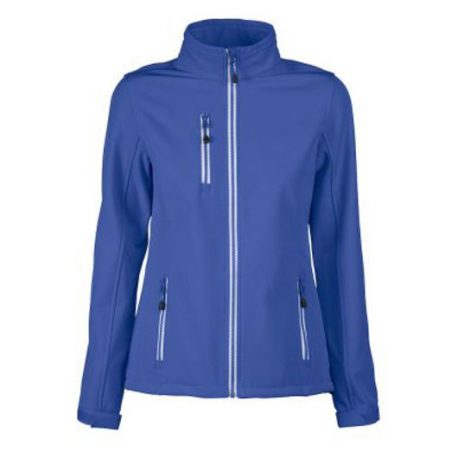 Printer Vert Lady Softshell Jacket blauw