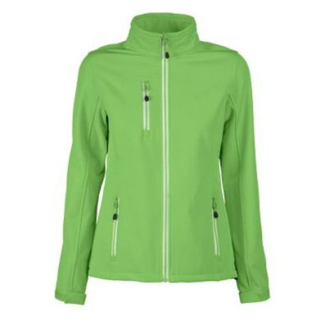 Printer Vert Lady Softshell Jacket limoen