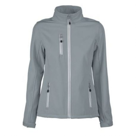 Printer Vert Lady Softshell Jacket metaalgrijs
