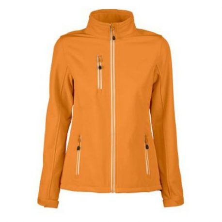 Printer Vert Lady Softshell Jacket oranje
