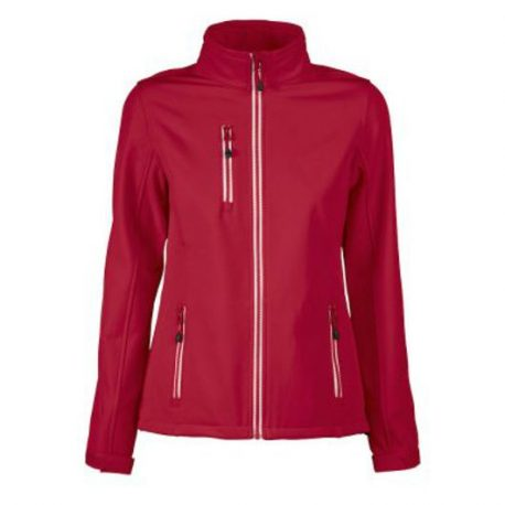 Printer Vert Lady Softshell Jacket rood