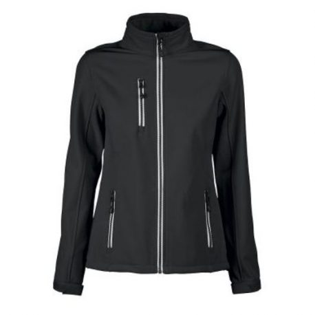 Printer Vert Lady Softshell Jacket zwart