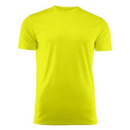 Run Active t-shirt geel