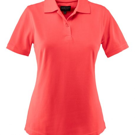 Harvest Albatross Ladies Stretch Polo koraal