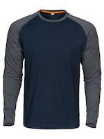MacOne Alex T-shirt marine/grijs mêlée