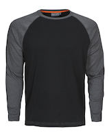 MacOne Alex T-shirt zwart mêlée/grijs mêlée