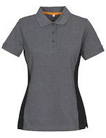 MacOne Selma Lady polo shirt grijs mêlée/zwart